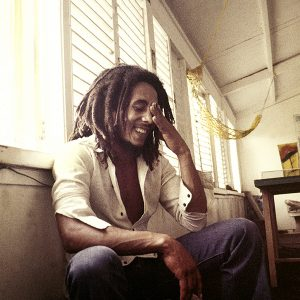 Bob Marley Hand To Head Smiling