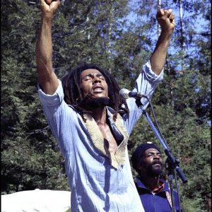 Bob Marley Arms Raised