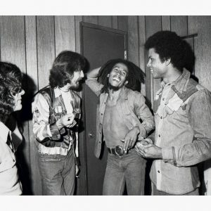 Bob Marley Backstage With George Harrison