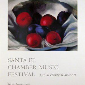 O'Keeffe, Georgia Plums, Santa Fe Chamber Music Festival 1988