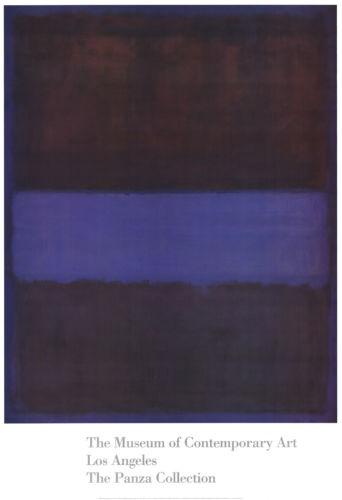 """Mark Rothko """"Brown, Blue, Brown on Blue"""" Framed Print"""